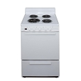 Premier 24 in. 2.9 cu. ft. Electric Range Oven in White