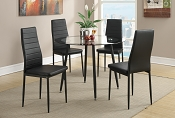 5 Pcs Black Dining Set