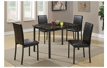 5-Pcs Black Dining Set