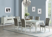 7 Pcs White Dining Table set