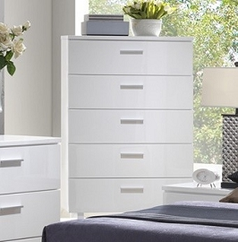 White Gloss 5 Drawer