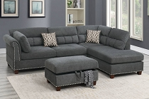 3PCS Sectional w/ottoman
