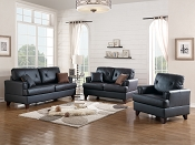 Top Grain Leather Sofa Set- Brown or Black