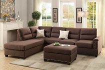 Sectional Sofa Set with Ottoman
