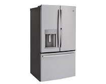 GE - 27.8 Cu. Ft. French Door in Door Refrigerator - Stainless steel