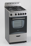 Avanti 20 Inch Freestanding Gas Range Stain less Steel