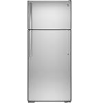 GE 17.5-cu ft Side-by-Side Refrigerator with Ice Maker (Stainless Steel)