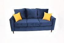 EZ Blue Modern Sofa
