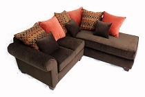 Livier Sectional - any color- optional chaise poistion