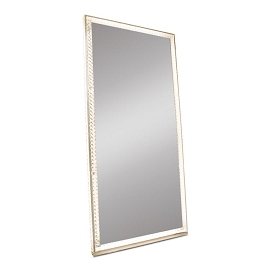 DIAMOND COLLECTION RADIANT PREMIUM ILLUMINATED CRYSTAL FLOOR MIRROR