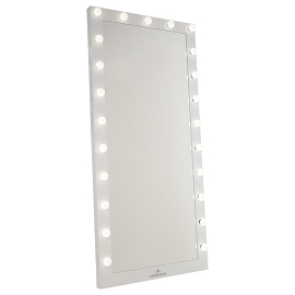 Hollywood Iconic Full Length Vanity Floor Mirror: White (Frosted LED)