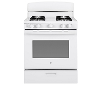 4.8 cu. ft. G.E. Gas Range in White