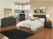 5 Piece Monica Grey Complete Bedroom Set