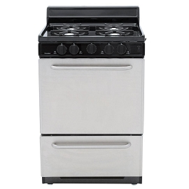 Premier 24 in. 3 cu. ft. Gas Range in Stainless Steel