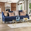 2 Piece Sisseton Navy Sofa Loveseat Set
