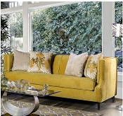 Royal Yellow Microfiber Sofa