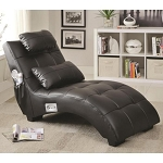 Upholstered Chaise with Lumbar Pillow and Bluetooth