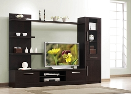 Espresso Finish Contemporary TV Unit
