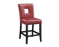 Upholstered Counter Stools Red And Black (Set Of 2)