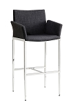 Charcoal Fabric Bar Stool