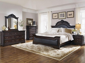Eastern King Cappuccino Bed Frame