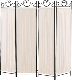 Black/Gold Finish Room Divider