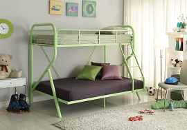 Green Finish Twin/Full Bunk Bed