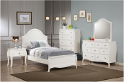 Dominique Collection White Bed Frame