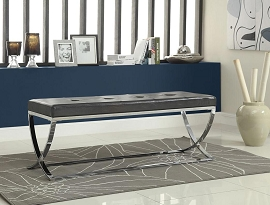 Black and Chrome Bench