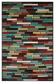 Colorful Brick Area Rug