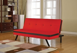 Red and Black Adjustable Sofa