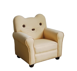 Kitty Style Beige Fabric Youth Chair