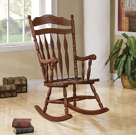 Dark Walnut Finish Rocking Chair