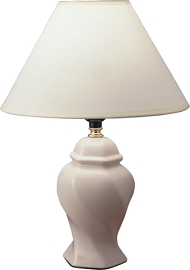 Traditional Ivory Finish Table Lamp