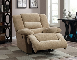 Ivory Chenille fabric Recliner