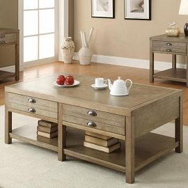 Cottage Coffee Table with Two Drawers