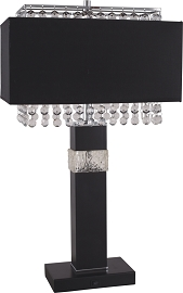 Contemporary Black Table Lamp  (COPY)