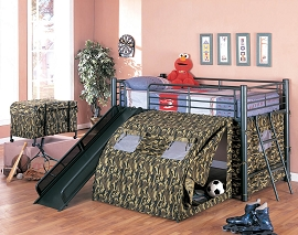 Army Loft Bed with Slide