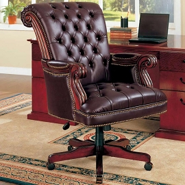 Executive Traditional Office Leather Chair
