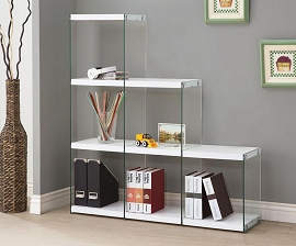 Glossy White Book Shelf
