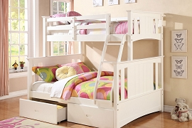 Twin / Full Bunk Bed - White or Espresso