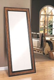 Antique Brown Floor Mirror