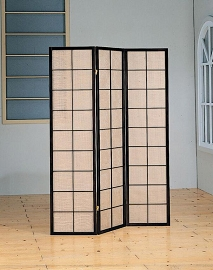 Cappuccino Finish Transitional Room Divider