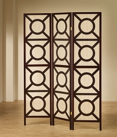Cappuccino Finish Folding Screen Room Divider