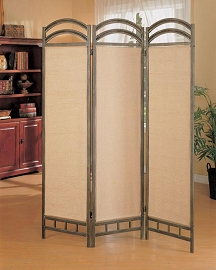 Graphite Transitional Metal Room Divider