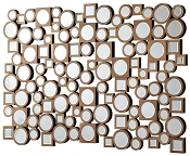 Collage Style Mirror with Round and Square Shapes