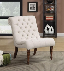 Oatmeal Linen Fabric Chair