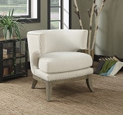 Barrel Back Upholstered Accent Chair- color option