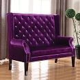 Accent Seating Extra Tall Winged Settee- color option