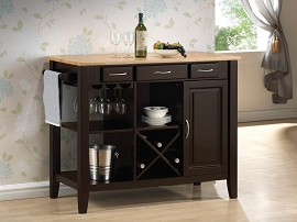 Cappuccino Finish Kitchen Cart